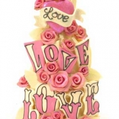 Thumbnail image for Love Love Love ~ Choccywoccydoodah Wedding Cake