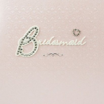 Diamante Bridesmaid Card