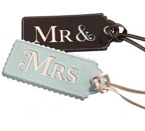 Post image for Mr & Mrs Luggage Tags