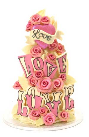 Post image for Love Love Love ~ Choccywoccydoodah Wedding Cake