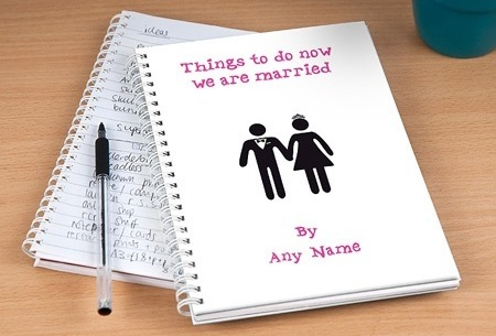 Thumbnail Image For 1st Anniversary Paper Or Wedding Gift Personalised Notebook